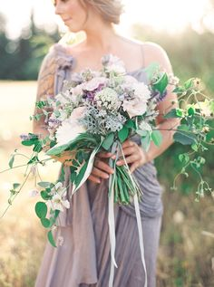 Photography : Julie Paisley | Wedding Dress : Gossamer | Floral Design : Stemm Floral Read More on SMP: http://www.stylemepretty.com/2015/10/07/ethereal-lavender-field-wedding-inspiration/