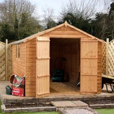 8' x 8' Overlap Apex Wooden Garden Shed on Walton Garden Buildings