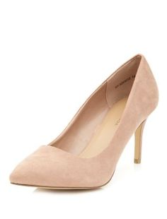 Stone Pointed Mid Heels  | New Look