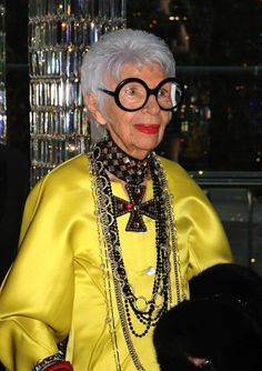 Iris Apfel: MAC announced this year that 90-year-old Apfel was to be their new spokeswoman. The legendary interior designer/fashion icon said that life doesn't stop at 30.