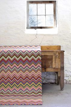 Colorful Multi Color Zig Zag Rug - Dash & Albert Zig Zag Multi http://www.jbrulee.com/cat_rugs_carpets.cfm