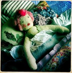 Sarah Moore Vintage heirloom dolls and bedding collection