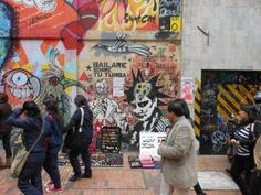Street art in the center of Bogotá.