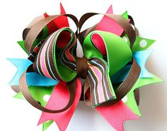 My name is Momma: NEW! (How to make a stacked boutique hair bow) ~TUTORIAL~