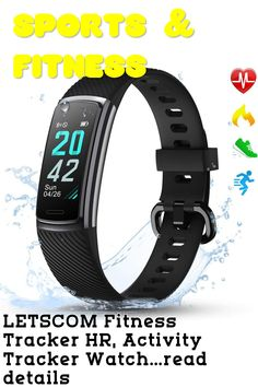 LETSCOM Fitness Tracker HR, Activity Tracker Watch with Heart Rate Monitor, Step and Calorie Counter, Screen IP68 Waterproof Pedometer Watch for Kids Women and Men ... (This is an affiliate link) Activity Tracker Watch, Best Fitness Tracker, Calorie Counter, Heart Rate Monitor, Activities, Watches, Link, Women, Wristwatches