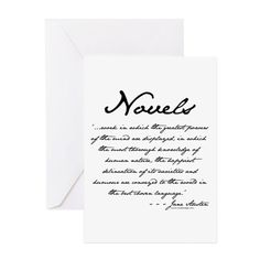 Jane Austen on Novels Greeting Cards (Pk of 10) on CafePress.com