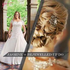 Gown + hair <3 #bridal #hair #wedding