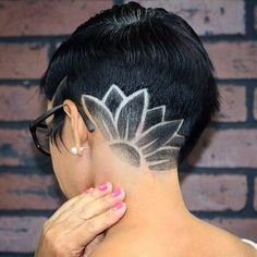 Pin by Britney Dyer on Shaved hair designs in 2019 Undercut Long Hair, Undercut Women, Shaved Undercut, Undercut Hairstyles Women, Undercut Pompadour, Shaved Hairstyles, Unique Hairstyles, Haare Tattoo Designs, Haircut Styles