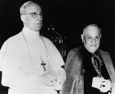 Pope Pius XII and Cardinal Angelo Giuseppi Roncalli  who succeeded him in 1958 as Pope John XXIII .  Pope John XXIII convened the Second Vatican Council and was  known as The Progressive Post-War Pope .