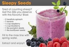 Nutribullet Recipes: Sleepy Seeds