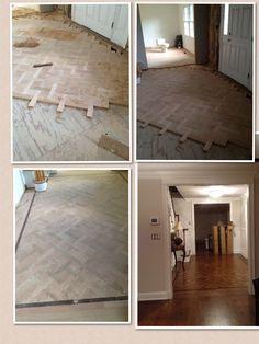 Basket weave design hardwood floor, start to finish!