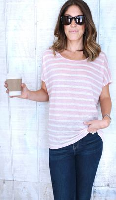 Relaxed Boyfriend Fit Tee by Velvet by Graham & Spencer
