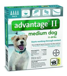 Advantage II for Dogs 11-20 lbs 4 Dose