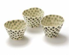 ceramics : sandra bowkett - copper spot cups : porcelain