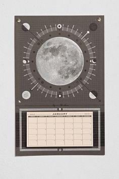 Hammerpress Moon 2015 Tear-Off Wall Calendar