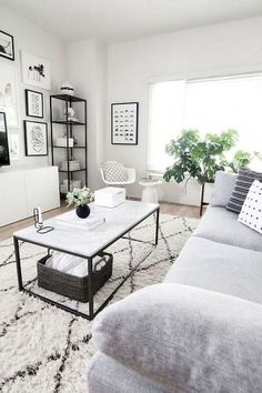 Modern White Living Room Design Ideas That Looks Amazing - Decorating Ideas - Home Decor Ideas and Tips Best Living Room Design, Living Room Grey, Living Room Sofa, Home Living Room, Apartment Living, Cozy Living, Grey Room, Living Room Decor For Apartments, Small Living Room Designs