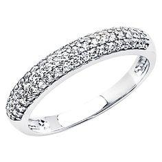 14K White Gold Round-cut CZ Cubic Zirconia Ladies Wedding Band Ring - Size 4.5 price