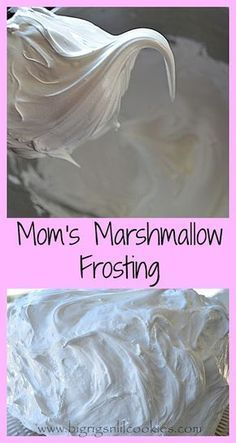 Big Rigs 'n Lil' Cookies: Mom's Marshmallow Frosting
