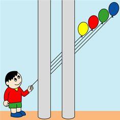 Este acertijo basado en una conocida ilusión óptica, nos plantea averiguarqué globo es el que sostiene el niño. Se trata de identificarlo a simple vista. Fíjate bien, no es fácil. Una vez que crea... Illusion Art, Optical Illusions, Quizzes, Balloons, Family Guy, Boys, Cards, Pictures, Fictional Characters