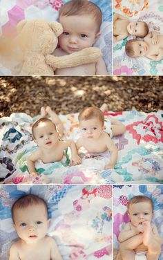 6 Month Twins and Family | Santa Clarita Baby Photographer