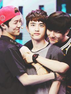 Luhan, Kyungsoo, and Baekhyun