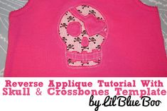 Reverse Applique Tutorial via lilblueboo.com