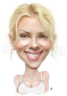 Caricatura de Scarlett Johanson. Si necesitas una caricatura entra en www.caricaturasonline.net
