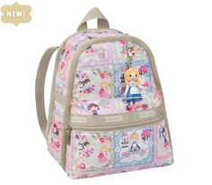 Disney Its a Small World Collection by LeSportsac - 2374 Mini Basic Backpack with Charm.  Perfect for sibling gift and/or surprise trip to Disney!
