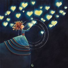 """The Boulevard of dreams"" Art And Illustration, Illustrations, Marie Cardouat, Art Fantaisiste, Art Mignon, Heart Art, Whimsical Art, Painting For Kids, Belle Photo"
