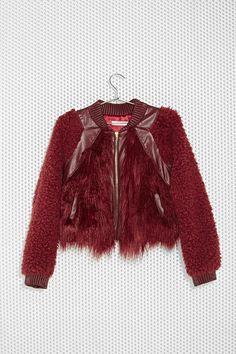 Three Floor Rosso Faux Fur Jacket