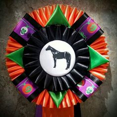 Gearing up for a SPOOKTACULAR time with the fun and whimsical Halloween accented ribbons!  #Awardribbons #Halloween