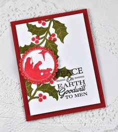 Peace On Earth Card by Dawn McVey for Papertrey Ink (September 2014)
