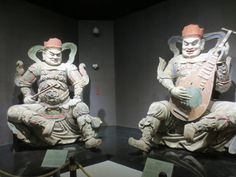 Chinese guardian spirits entertaining the Jade Emperor
