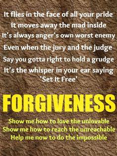 Forgiveness - by Matthew West