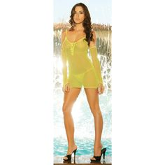 Mini Dress W G String Fencenet