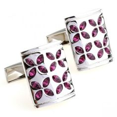 Vienna romance amorous feelings dreamy red crystal cufflinks,Hot sale stud and cufflink sets Clearance Sale