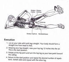 LARGER-side-leg-lift övning mot smärta vid ländryggen Gluteus Medius, Leg Lifts, Pilates, Abs, Larger, Motivation, Motion, Workouts, Fitness