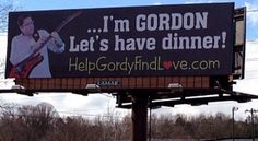 Single Man Uses Giant Billboard To Find Love | ford dealership
