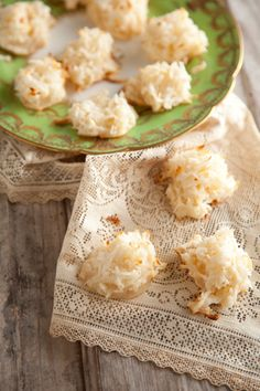 Coconut Macaroons - my favorite cookies when I was a little girl. Still in the Top 3!