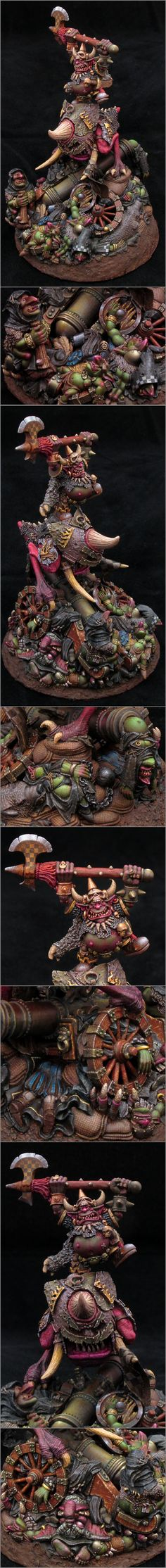The Internet's largest gallery of painted miniatures, with a large repository of how-to articles on miniature painting Fantasy Battle, Fantasy Races, Warhammer Models, Warhammer Fantasy, Fantasy Model, Fantasy Art, Orks 40k, Warhammer 40k Miniatures, Fantasy Miniatures