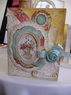 Great Stampin UP Card.  I still love that stamp set.  Need to learn to make ribbon roses.
