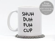 You saw it here first from Hot Dang Coffee Mugs - No description needed. Let your Co-Workers know how you really feel! >See the companion Wake Duh Fuh Cup Mug HERE: http://etsy.me/2DDzQjl ••• FREE Coaster with every Hot Dang Coffee Mug purchase ••• [About Our Mugs] • Image is on