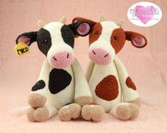 Crochet Pattern COW by MyKrissieDolls on Etsy