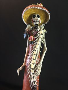 Www. Heartofmejico.com La Catrina con serpiente emplumada. Pm for price and details