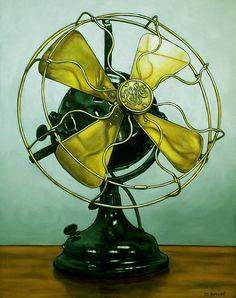 Vintage GE Fan original oil painting of by MargaretHorvatArt