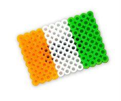 perler bead shamrock pattern - irish flag