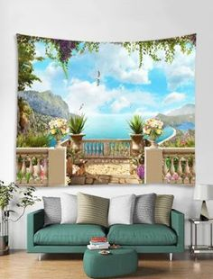 Home Decor: Artificial Flowers, Wall Stickers, LED Night Lights Cheap Online Sale Cheap Wall Tapestries, Tapestry Wall Hanging, Tapestry Bedroom, Wall Hangings, 3d Fantasy, Home Decor Online, Home Wall Decor, Cool Walls, Bedroom Wall