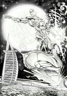 Silver Surfer by Claudio Castellini*