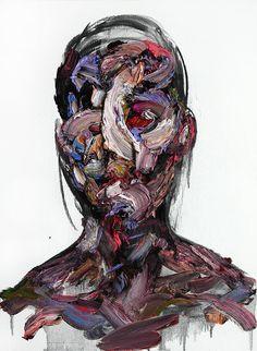 Oil & Charcoal on Canvas by KwangHo Shin #brush #stroke