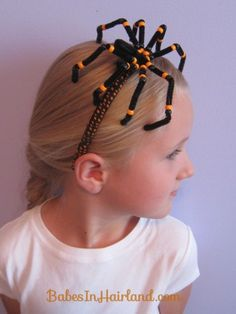 DIY Spooky Spider Halloween Headband ... tutorial